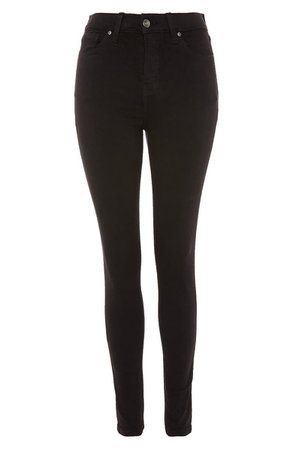 Topshop Moto Jamie High Waist Black Jeans (Regular & Petite) | Nordstrom