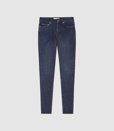 Skye Indigo Bi-Stretch High Rise Skinny Jeans – REISS
