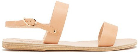 Clio Leather Sandals - Tan
