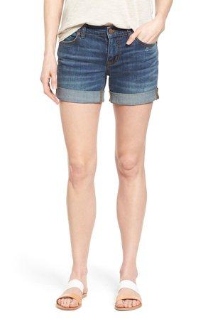 Caslon® Rolled Denim Boyfriend Shorts (Regular & Petite)   Nordstrom
