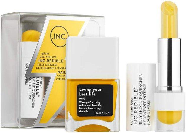 Inc.Redible INC.redible - Gen Yellow Jelly Lip Balm + Nail Polish Duo