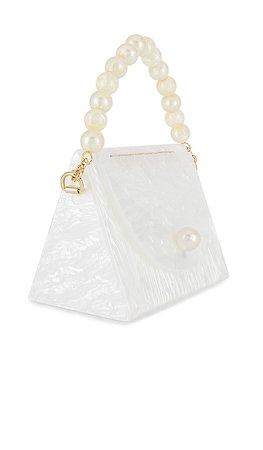 Lele Sadoughi Tent Bag in Mother Of Pearl | REVOLVE