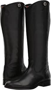 Amazon.com | FRYE Women's Melissa Button 2 Riding Boot, Black, 7 M US | Knee-High
