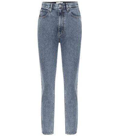 Slvrlake - High-Rise Slim Jeans Beatnik   Mytheresa