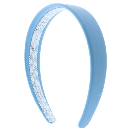 Light Blue 1 Inch Wide Leather Like Headband Solid Hair band for Women and Girls