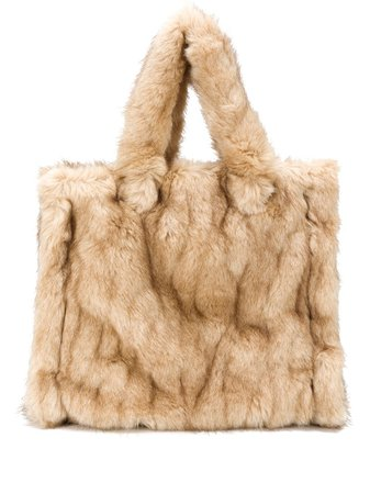 STAND STUDIO Lolita Fur Tote Bag - Farfetch