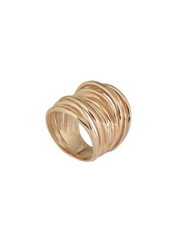 Federica Tosi Federica Tosi Armour Stick Ring - GOLD - 10781044 | italist