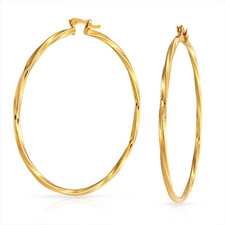 gold hoops earrings - Google Search