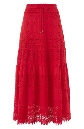 Melissa Odabash Alessia Eyelet Cover-Up Maxi Skirt | Nordstrom