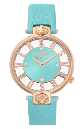 VERSUS Versace Kristenhof Leather Strap Watch, 34mm | Nordstrom