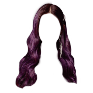 brown hair with purple tips ombre png