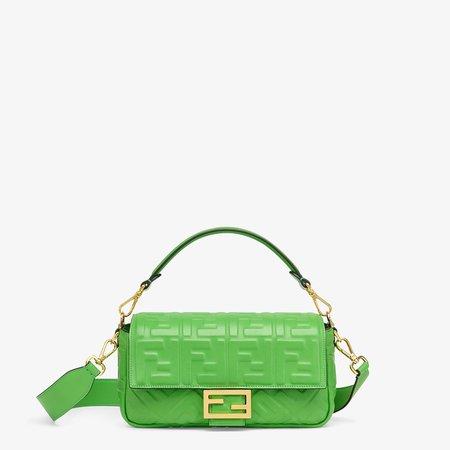 Green nappa leather bag - BAGUETTE | Fendi