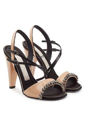 Embellished Patent Leather Sandals Gr. EU 37