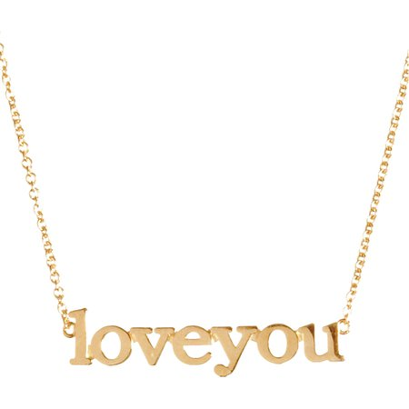 Jennifer Meyer Women's Love You Pendant Necklace