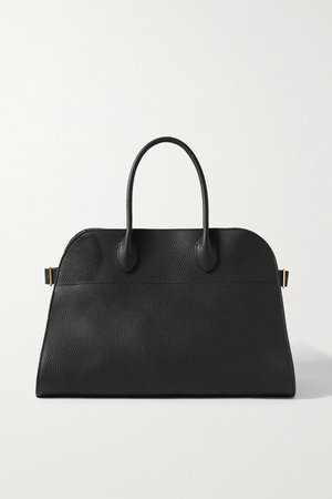 Margaux 15 Buckled Textured-leather Tote - Black