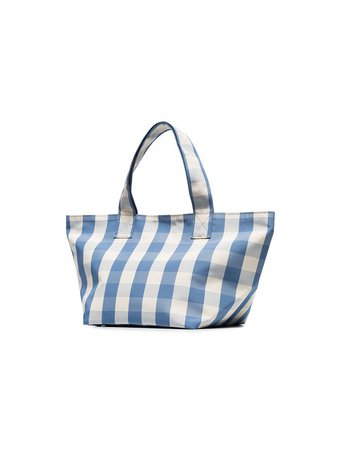 Trademark Blue And White Gingham Grocery Small Tote Bag - Farfetch