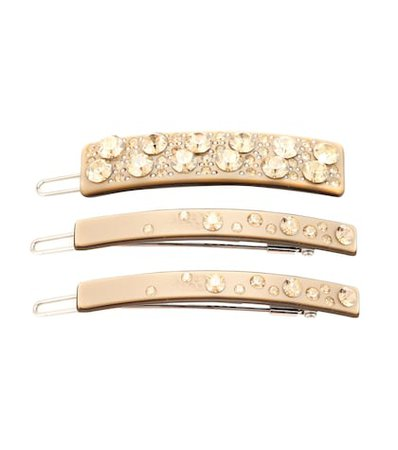 Exclusive to Mytheresa – Set of embellished barrettes