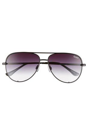 Quay Australia High Key Mini 57mm Aviator Sunglasses   Nordstrom