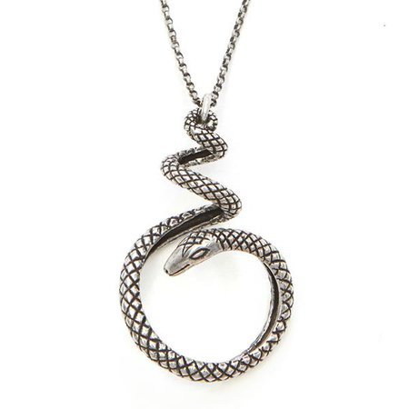 Sterling Snake Necklace – RockLove Jewelry