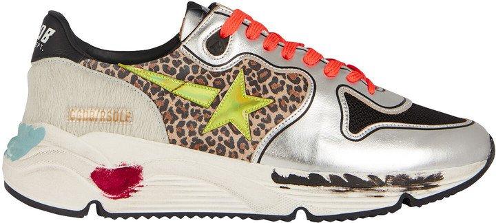 Running Sole Leopard Sneakers