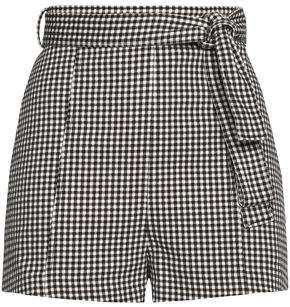 Paradiso Belted Gingham Cotton-blend Shorts