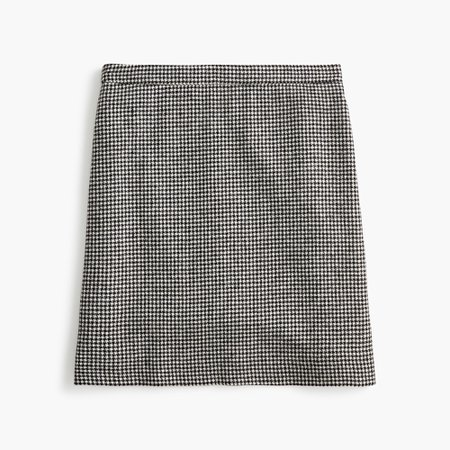 J.Crew: Wool Mini Skirt In Houndstooth