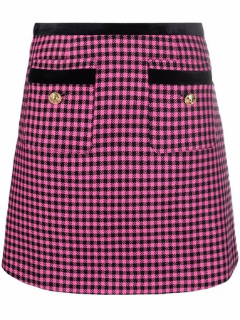 Versace Jeans Couture houndstooth-patterned A-line mini skirt