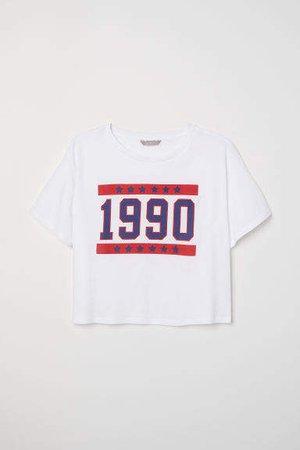 H&M+ Short T-shirt - White