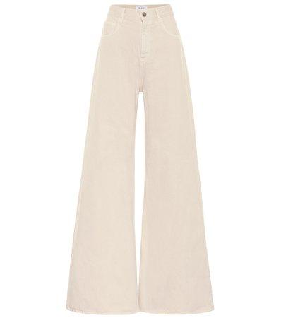 The Attico, High-Rise Wide-Leg Jeans