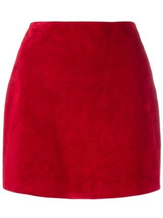 Saint Laurent, Suede Mini Skirt