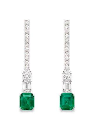 Piaget, Emerald and diamond earrings
