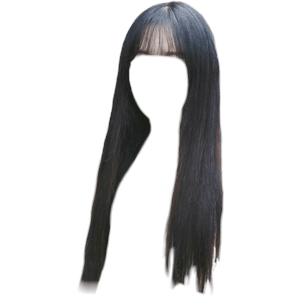 Black Hair Bangs PNG