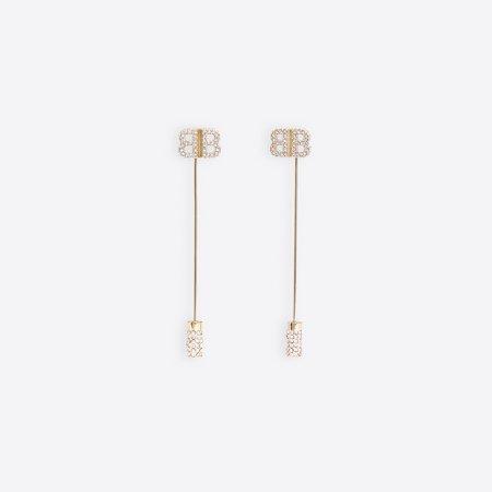 Pin BB Earrings Gold for Women   Balenciaga
