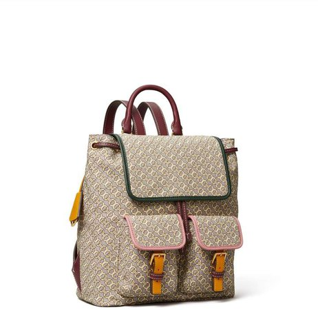 Perry Jacquard Flap Backpack