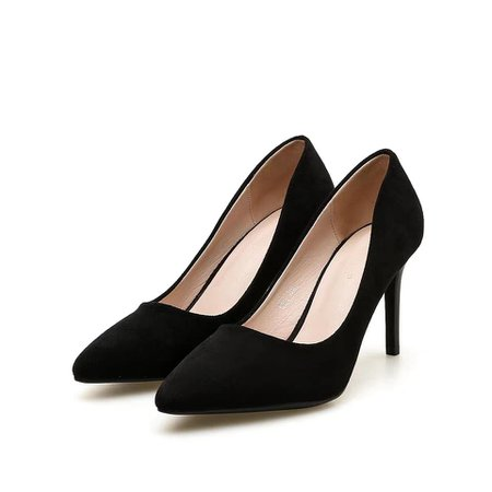 Black Short Heel Shoes