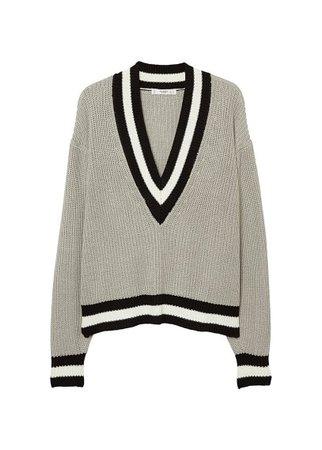 MANGO Contrast panel sweater