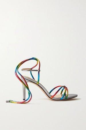 Metallic Rebecca metallic leather sandals | Alexandre Birman | NET-A-PORTER
