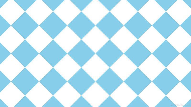 Blue + White Checked Tiles Wallpaper