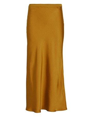Anine Bing Bar Silk Midi Skirt   INTERMIX®