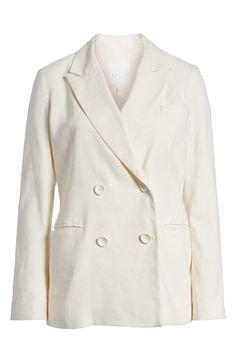 Leith White Linen Blazer