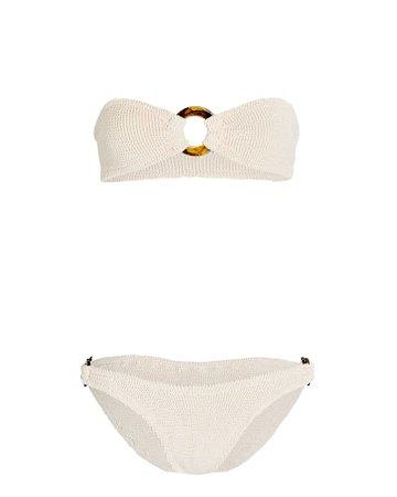 Hunza G Gloria Bandeau Bikini Set | INTERMIX®