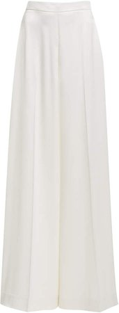 Christian Siriano Wide-Leg Silk Pants