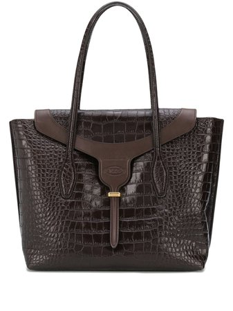crocodile-embossed Tote Bag