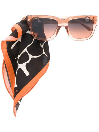 Linda Farrow scarf-embellished Sunglasses - Farfetch
