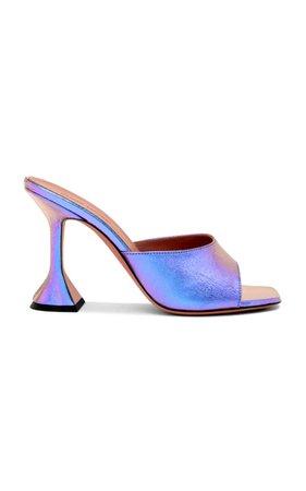 Lupita Leather Sandals By Amina Muaddi   Moda Operandi