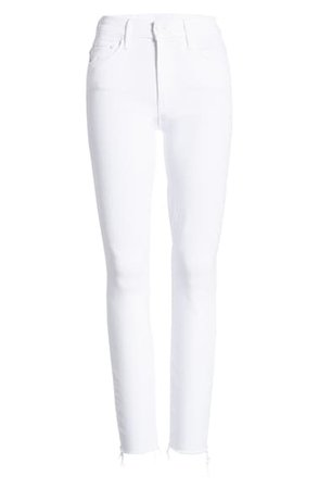 MOTHER The Looker High Waist Fray Ankle Skinny Jeans (Fairest of Them All) | Nordstrom