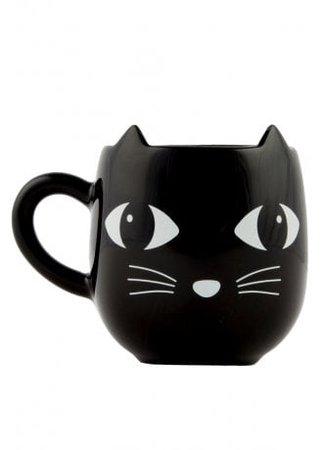Black Cat with Ears Mug   Attitude Clothing