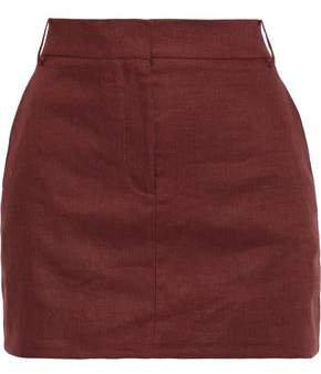 Linen-canvas Mini Skirt