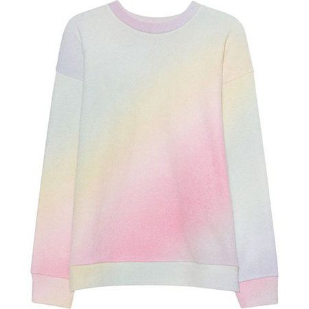 The Elder Statesman Felted Print Pastel // Rainbow colored cashmere