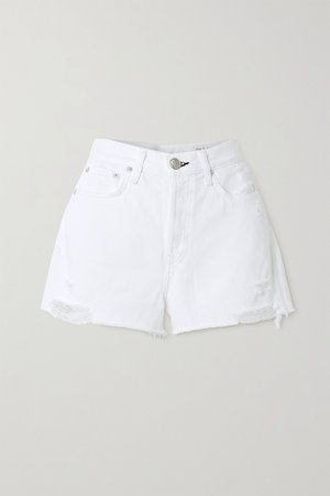 White Maya distressed denim shorts | rag & bone | NET-A-PORTER